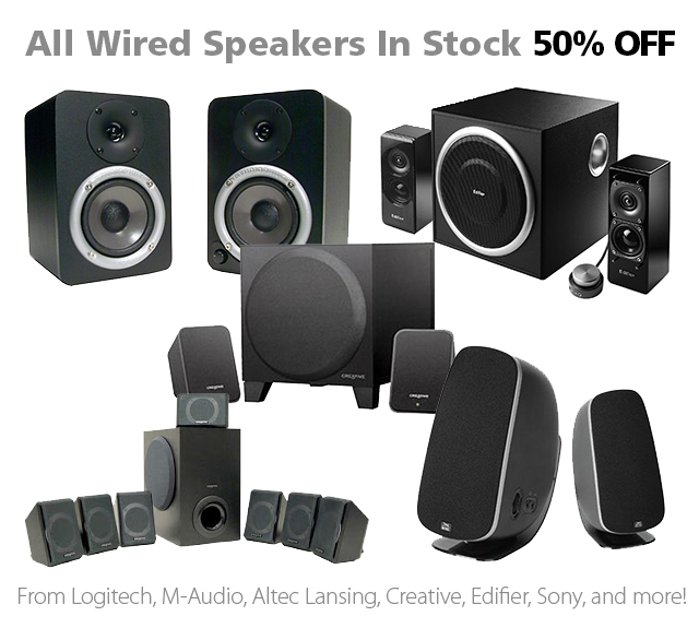 DOTW Deal of the Week speakers half price 50% off