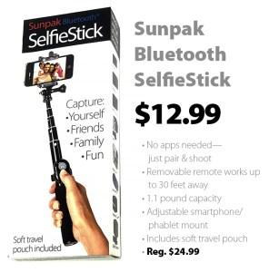 Sunpak Premium Bluetooth SelfieStick for $12.99 (reg. $24.99)