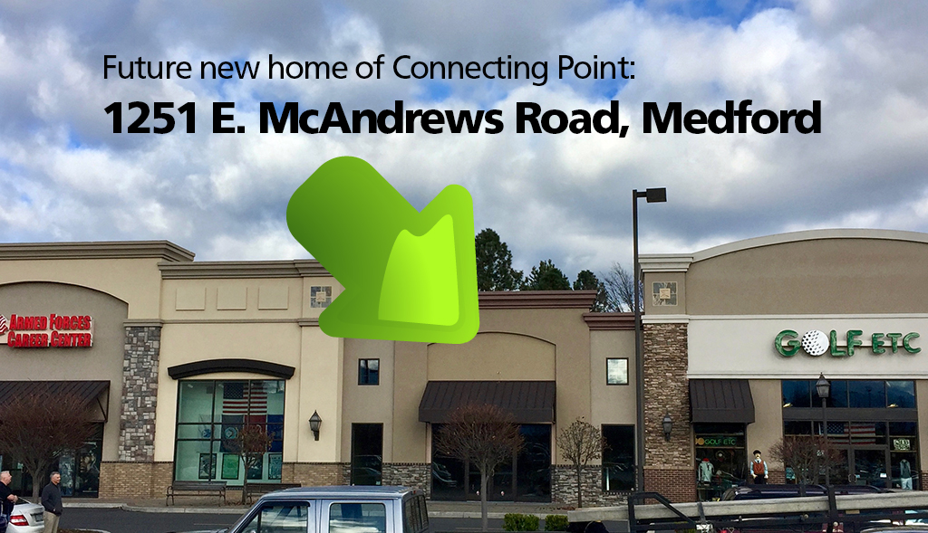 Connecting Point's new location - 1251 E. McAndrews Road, Medford OR