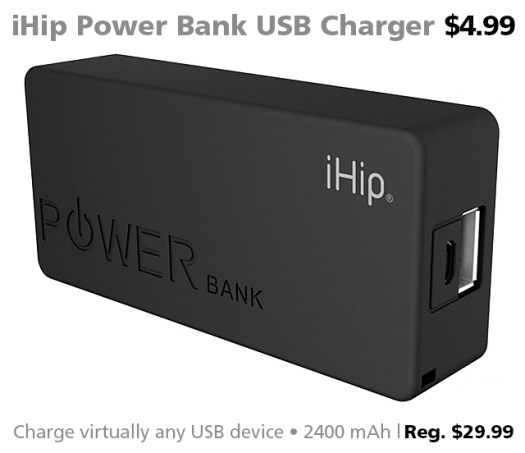 iHip power bank USB charger DOTW sale Connecting Point