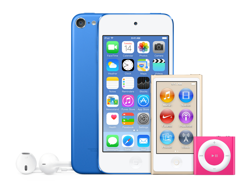 iPod family Apple iPod shuffle iPod nano iPod touch sales Connecting Point Medford OR