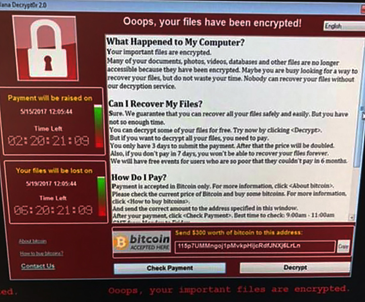 WannaCry screenshot virus ransomware security Connecting Point Medford Oregon
