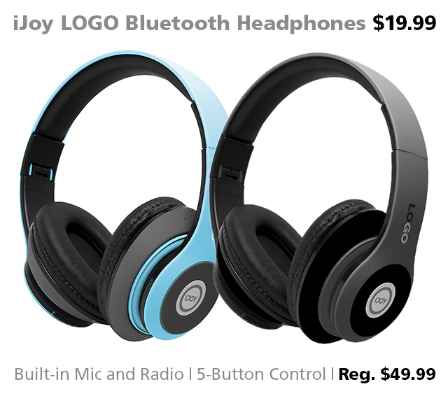 Bluetooth headphones DOTW iJoy LOGO bargain