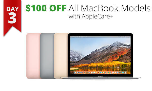 $100 off all macbook models 12 days of savings Apple Mac deal bargain Rogue Valley Medford OR Connecting Point
