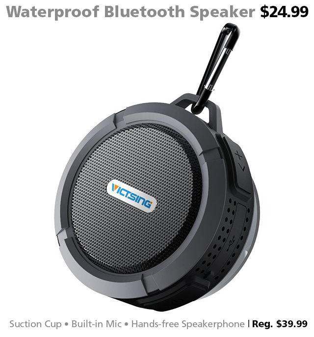 waterproof Bluetooth speaker shower pool boat camping accessories DOTW deal of the week Connecting Point Medford Oregon Rogue Valley sale bargain