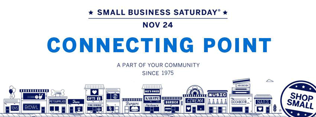 small business Saturday 2018 112418 Connecting Point Rogue Valley southern Oregon Medford American Express holiday shopping