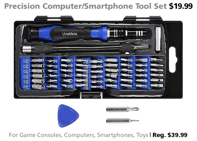 computer smartphone tool set DOTW deal of the week gifts holiday shopping iPhone takeapart disassembly Rogue Valley Connecting Point Medford Oregon Christmas