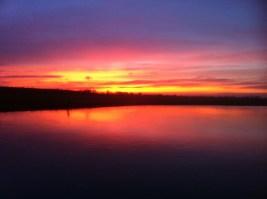 Sun goes down - Nederrijn