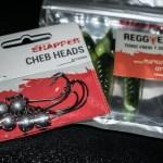 Korum Snapper Floatex Reggie und Cheb Heads