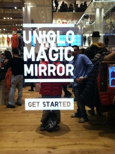 Magic Mirror de Uniqlo, un probador inteligente