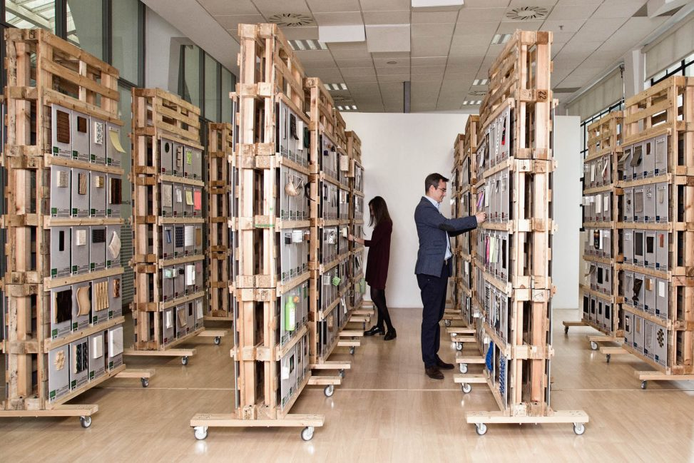The Material ConneXion materials library in Bilbao has over 1300 physical samples of materials.