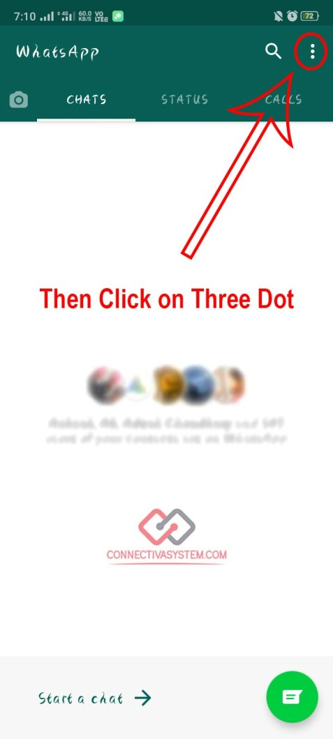 Then Click on Three Dot