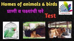 प्राणी व पक्ष्यांची घरे