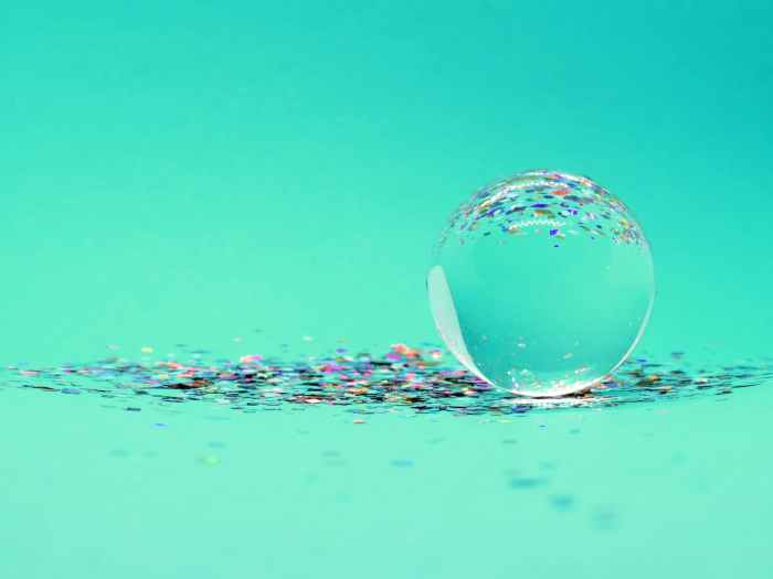 Aqua blue image with ball to get the ball rolling to start a spiritual business