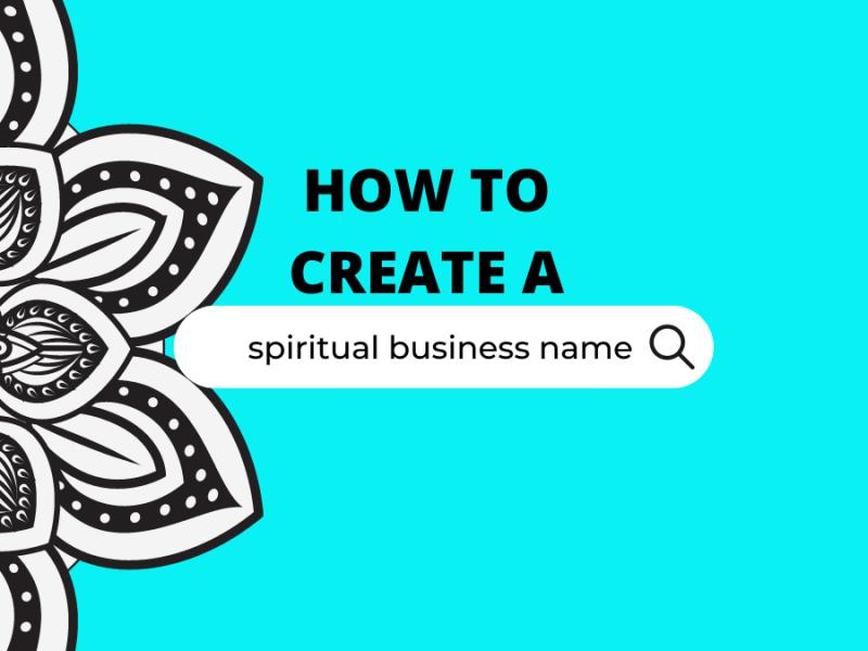 How to create a spiritual business name