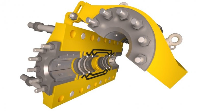 Illustrates the higned opening and interal make up of a MORGRIP structural clamp