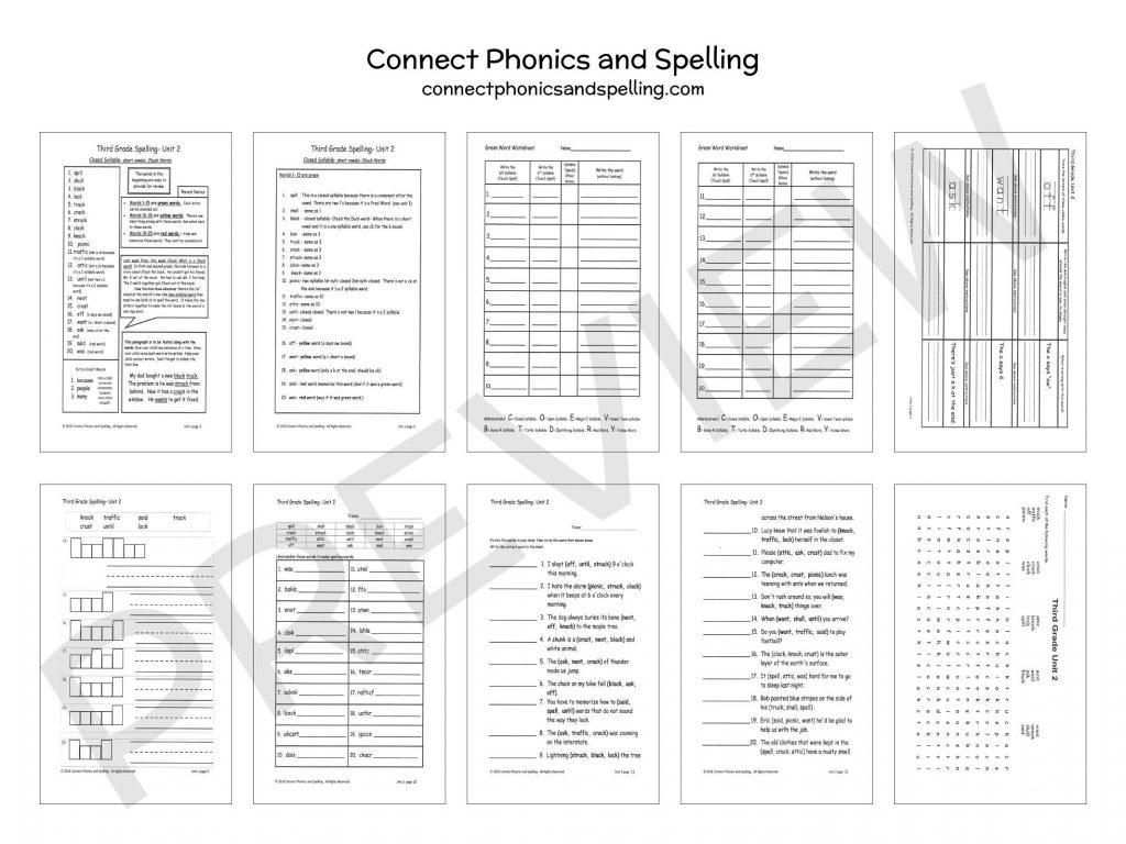 3rd Grade Spelling Connect Phonics And Spelling