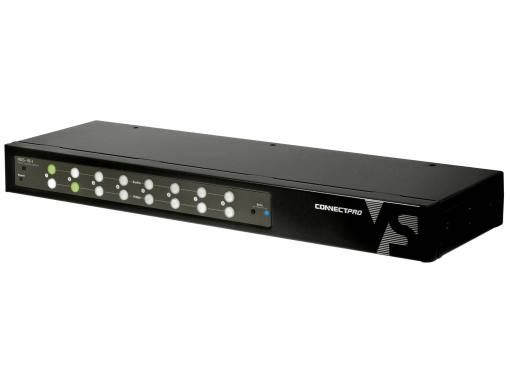 Angle view of the ADS-18-I an eight port dvi audio switch