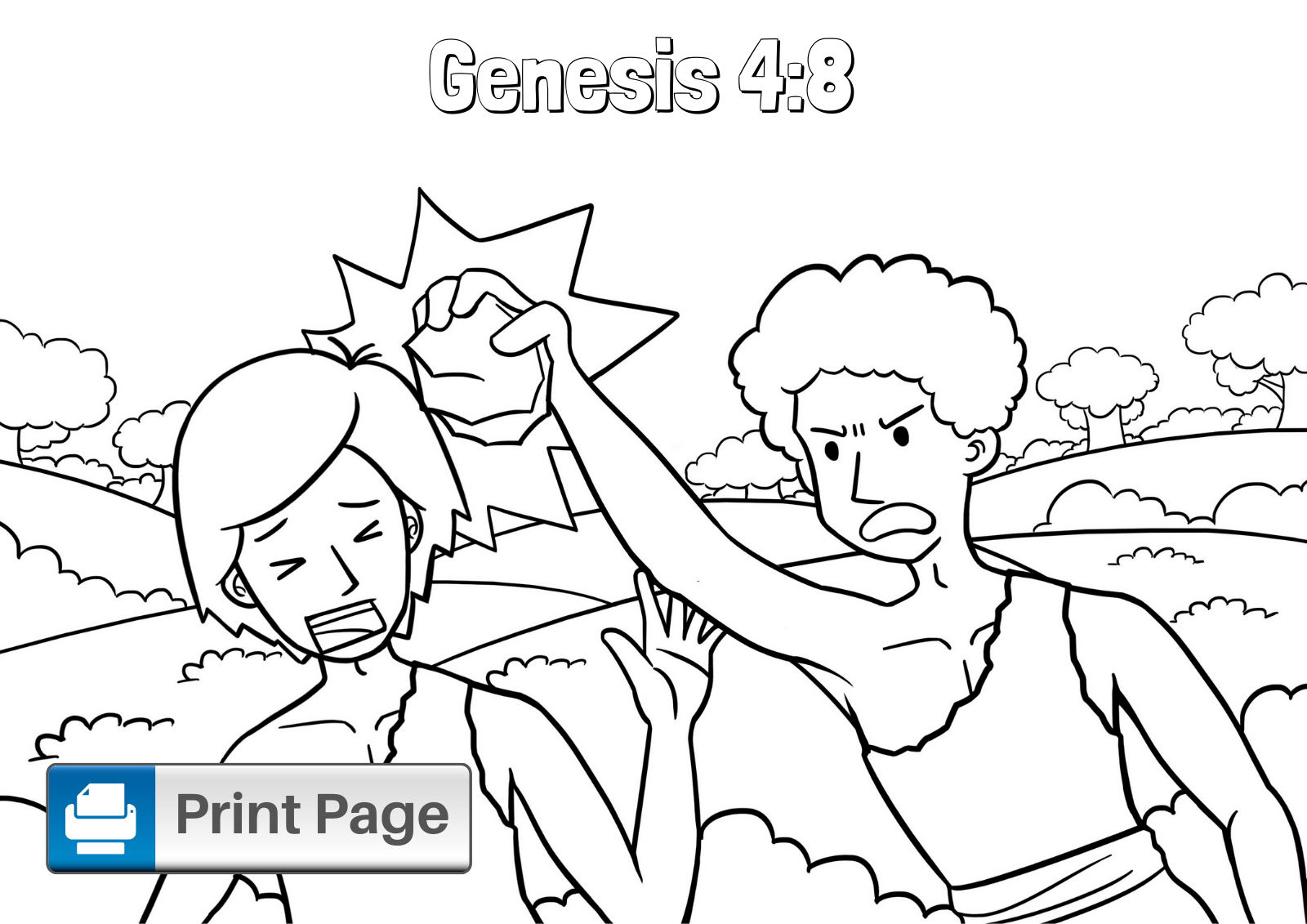 Free Cain And Abel Coloring Pages For Kids Printable S