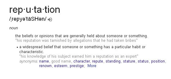 reputation-definition