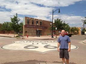 Standin' on the corner in Winslow, Arizona...such a fine sight to see.