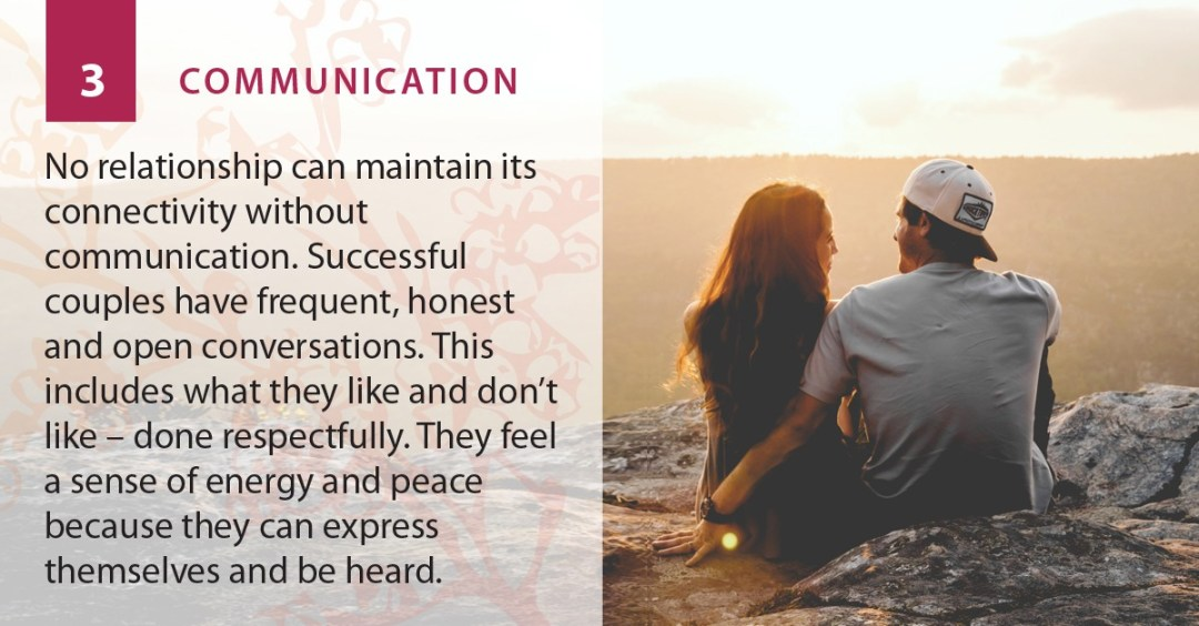 Communication is a strength of a romantic relationship