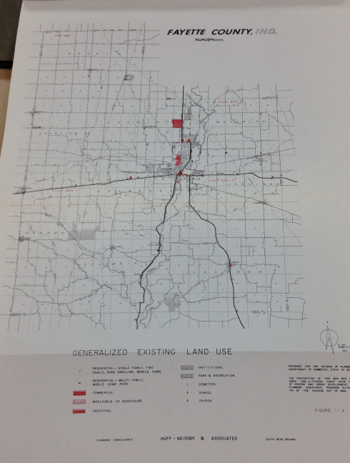 Generalized Land Use Map of Fayette County, May 1969