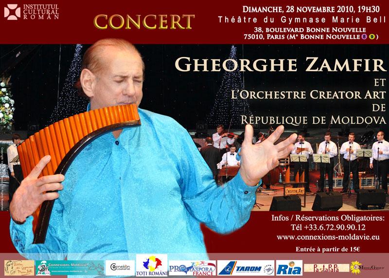 Afis Gheorghe Zamfir si Orchestra Creator Art