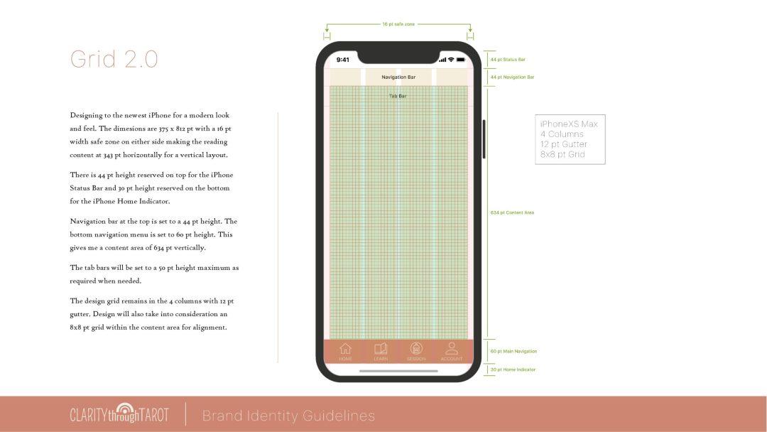 Clarity Through Tarot Design System Grid