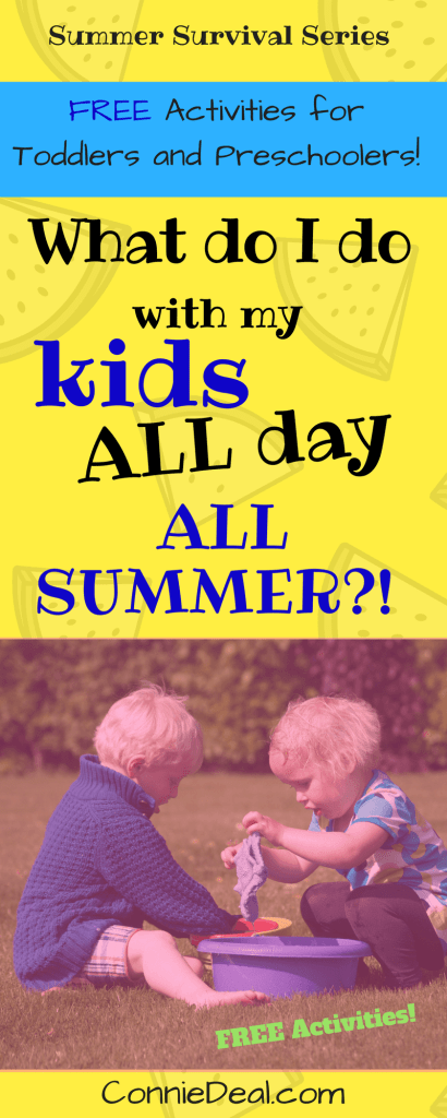 Summer activities for toddlers and preschoolers plus free guidance and support from a credentialed teacher to help you teach your child over the summer and prevent the summer slide.