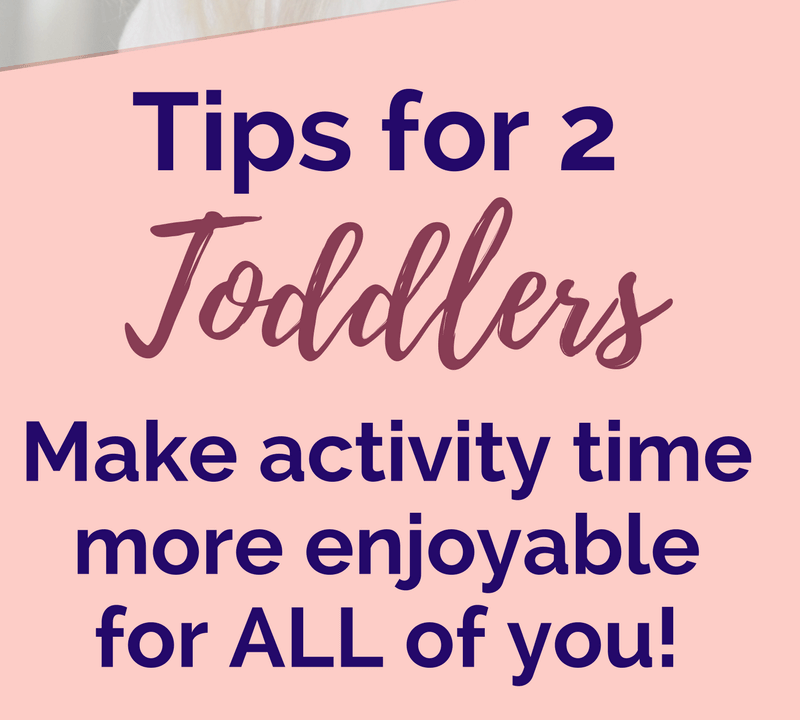Not sure how to easily go about doing activities with two toddlers? Learn 9 strategies and tips you can use NOW to make it easier to do art, science, cooking, crafts, etc. with your two little ones, plus have access to a FREE download loaded with MORE tips from Lessons and Learning for Littles. #toddleractivity #toddlermom #toddlerart #toddlerscience #2u2