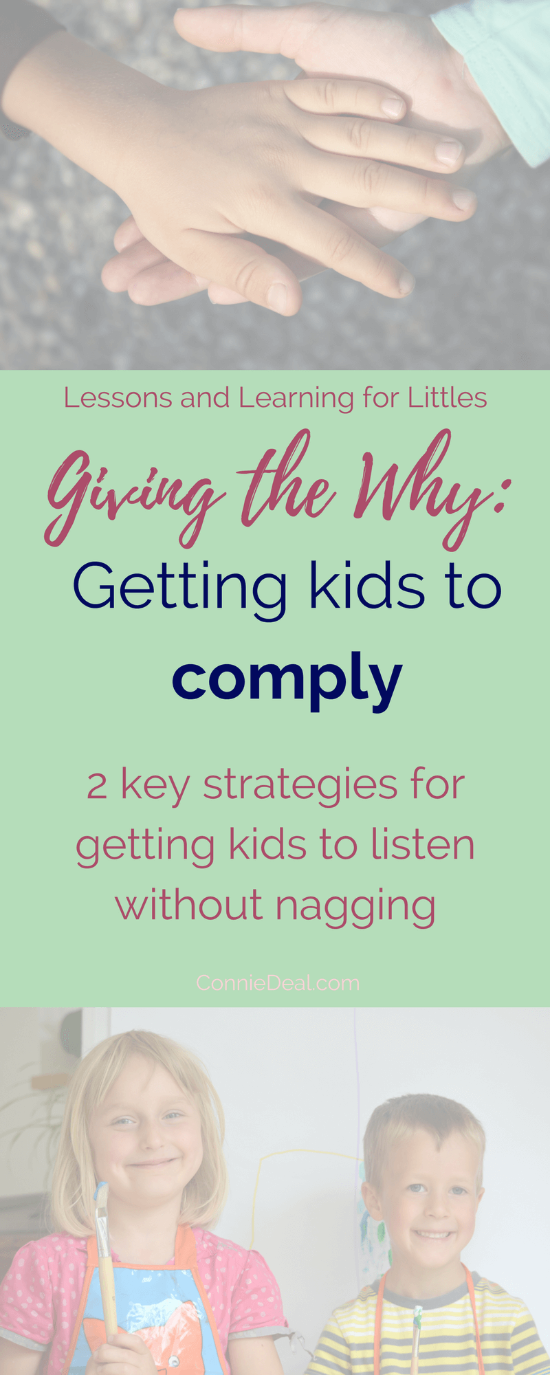 Learn two strategies to start using TODAY to help your kids listen better. Spend less time repeating and have a calmer, more relaxed home when you implement these two strategies from Lessons and Learning for Littles. #toddlerroutine #toddlers #motherhood
