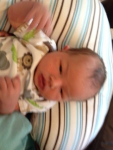 Jude Luke Connally at 3 days old