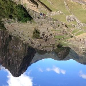 panorama of machu piccu