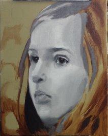2017-02-26 Portrait - 'Imogen' (Oils) - Part 3 - Grisaille 2 Blended