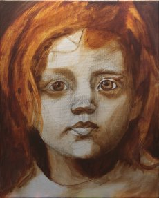 2017-03-05 Portrait - 'Grace' (Oils) - Part 2b Blocking in