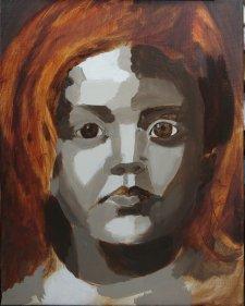 2017-03-08 Portrait - 'Grace' (Oils) - Part 3a Grisaille Tonal Blocking