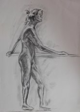 2015 Live Sketch - 'Standing Woman' (Charcoal)
