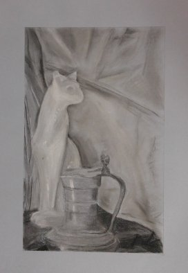 2015 Still Life - 'Cat and Pitcher' (Pastels)