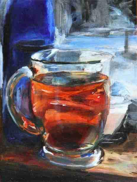 2017-02-15 Still Life - 'Cup 'O Tea' (Acrylics)