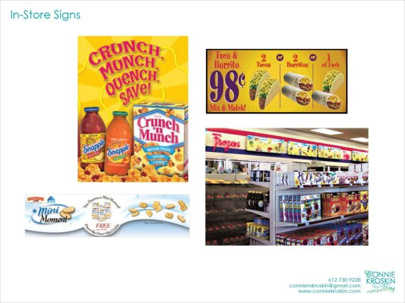 In-store signs
