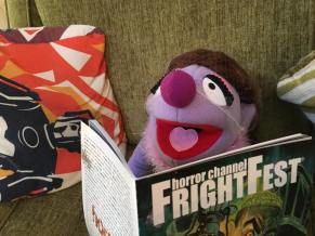 Connie loves the FrightFest brochure!