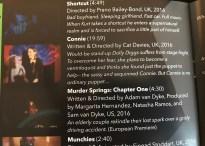 Festival brochure listing