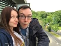 Director Cat Davies with Producer James Moran