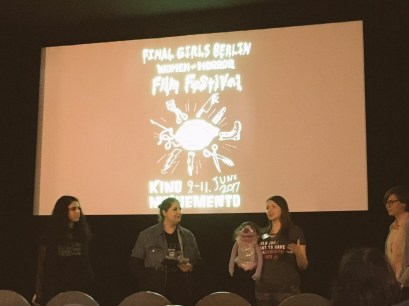 Director Cat Davies with Connie at the Q&A