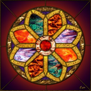 Stained-glass Rose Window by fmr0 via DeviantArt.com