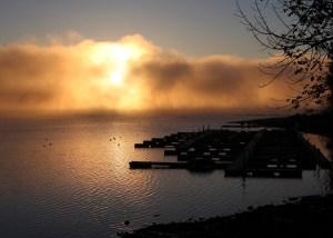 Lake, Fog, Sunrise, Sacandaga, Northville, NY,