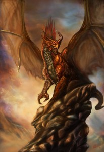 Dragon by bloodybarbarian-d3jp97t by Art of Okan via DeviantArt.com