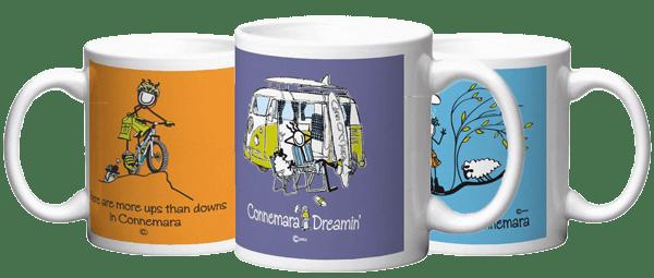 Connemara Mugs in Conn's gift Shop
