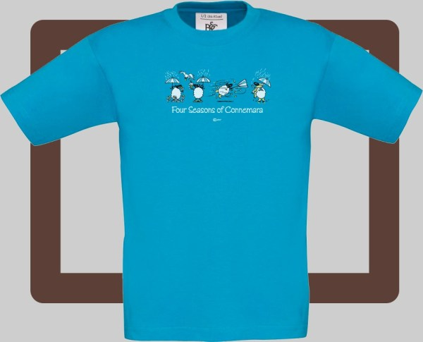 Our kids connemara atoll t-shirts are bright and fun for kids of all ages | T-shirts from Conn O'Mara for Connemara kids.